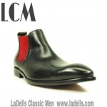 Ankle Boot- Black/Red