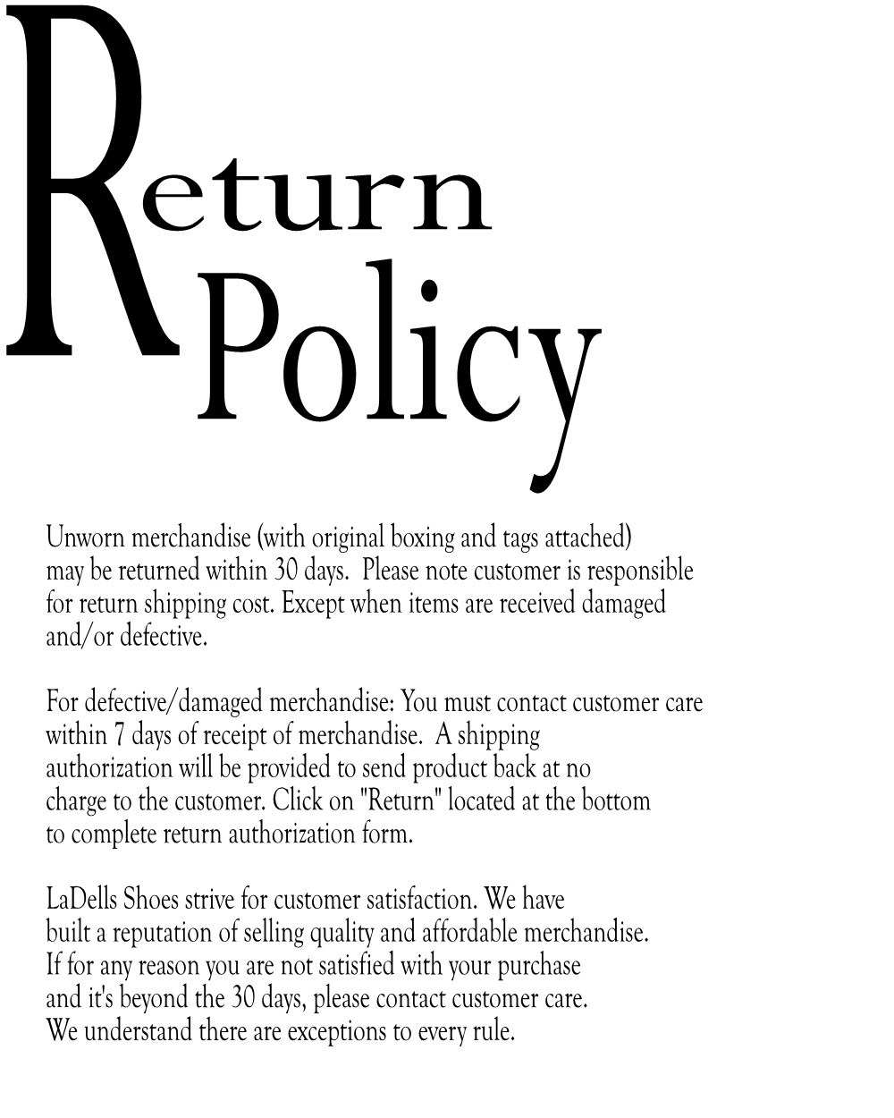 return policy Your satisfaction is our priority special holiday return policy: premium electronics purchased from november 1 - december 25, 2017 may be returned by january 31, 2018 with original.